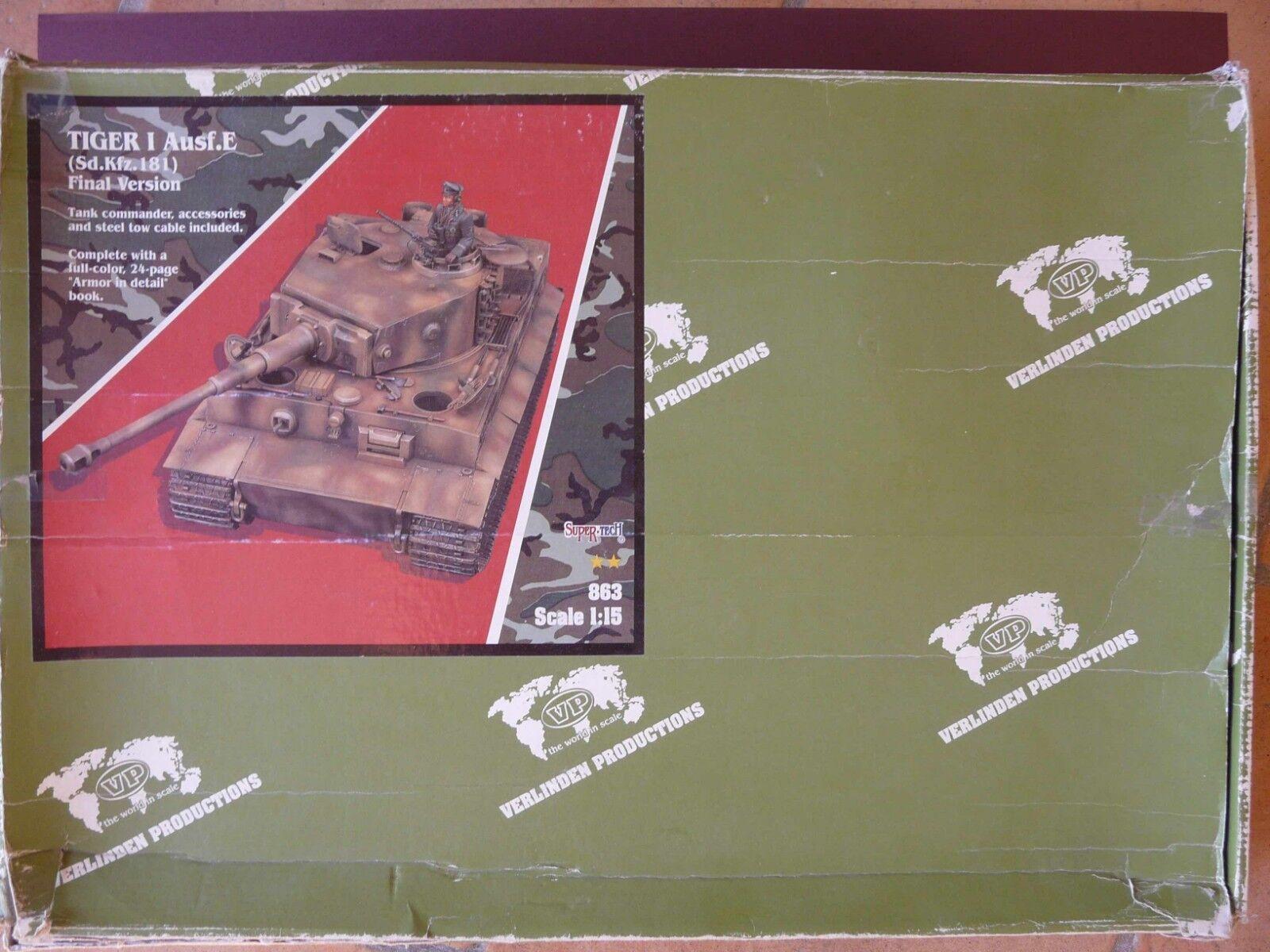 1/15 - Verlinden Productions. TIGER I Ausf.E + piezas Zimmerit + figura
