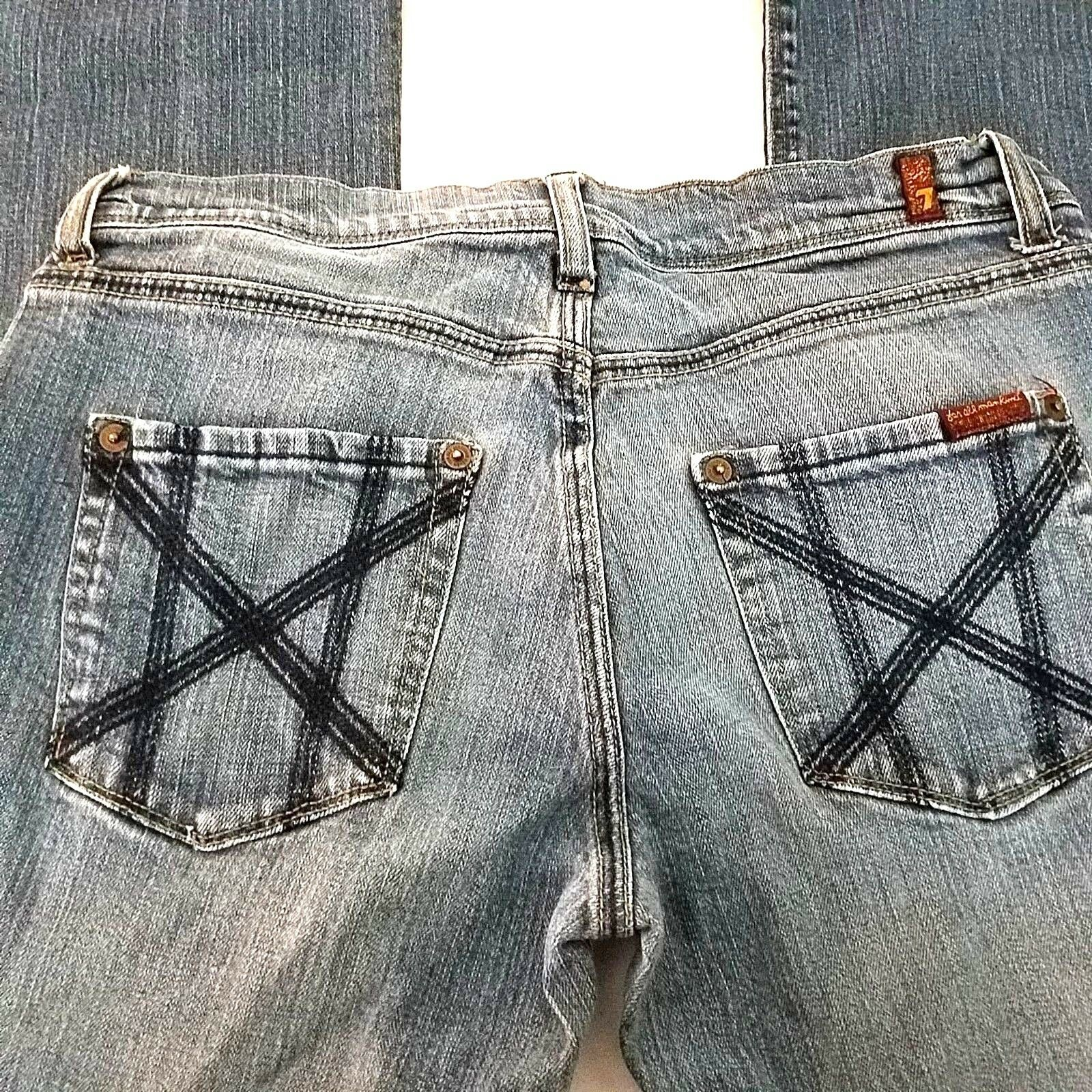 7 For All Mankind Mia Jeans 28 Bootcut Medium Wash Mid Rise Stretch