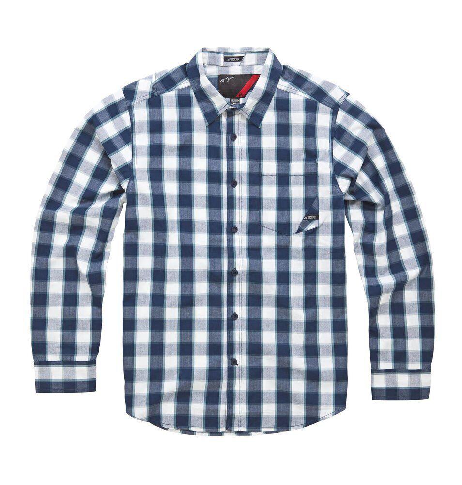 Alpinestars Caption Long Sleeve Shirt (M) Navy