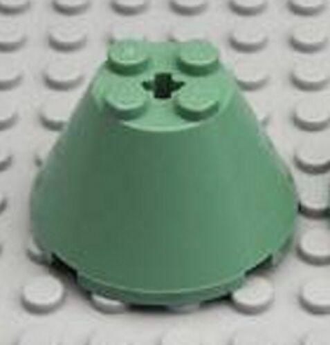 Cone 4 x 4 x 2 with Axle Hole LEGO HARRY POTTER Sand Green