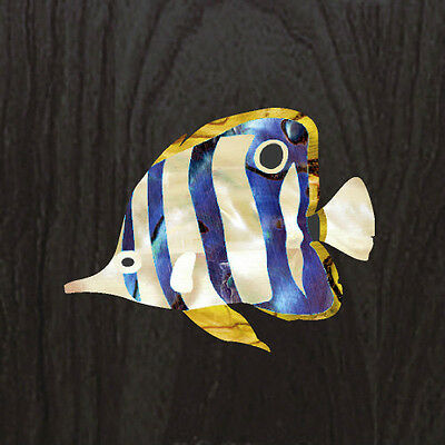 Butterflyfish Inlay Sticker Ukulele / Nature Decal