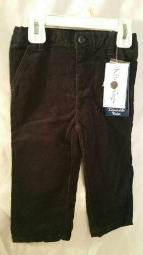 Boys Black Pants Size 12 Month Adjustable Toddler Corduroy Kids Childrens  NWT