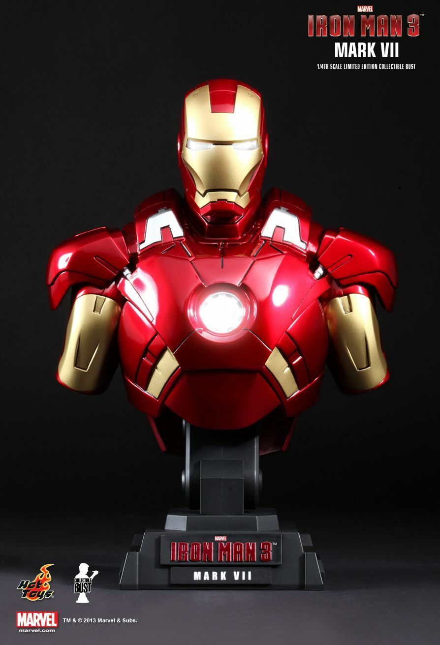 Hottoys Ironhomme 3 Iron  Man 3 Mark Vii (7) 1 4 scale bust  distribution globale