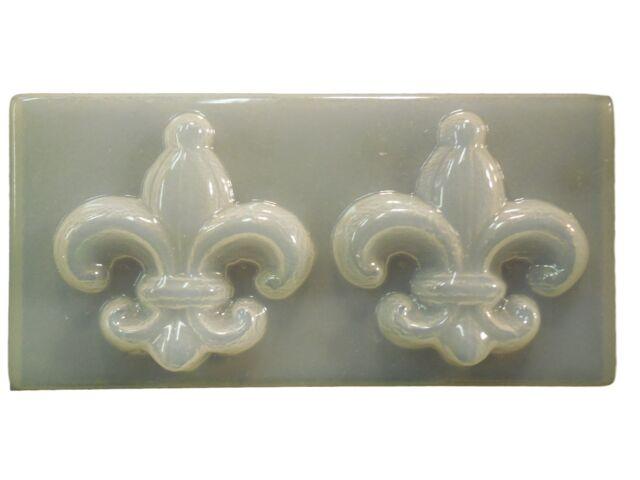 Decorative Fleur De Lis Plaque Plaster or Concrete Mold 7086 Moldcreations
