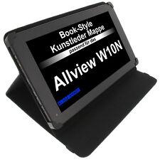 Housse pour Allview W10N Style Livre étui de protection Tablet Case Porte Noir