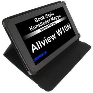 bolsa-para-Allview-W10N-Book-Style-Funda-Protectora-De-La-Tableta-Soporte-Negro