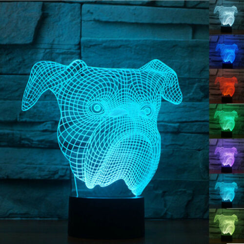 3D Illusion Night Light Animal 7Color change Touch USB Room Decor Birthday Gift
