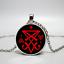 Unisex Lucifer Satan Colgante Collar-Reino Unido Stock
