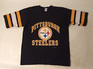 best website 4ae43 8c76a Details about Mens Amazing Vintage Pittsburgh Steelers Shirt Baseball Style  Sz XL 50/50 1993