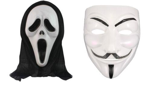 Halloween Purge Vendetta Saw Style Horror Clown Ghost Fancy Dress Scary Masks