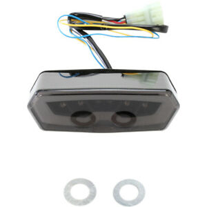 Moto MPH Integrated Turn Signal Taillights Blackout (MPH-30127B)