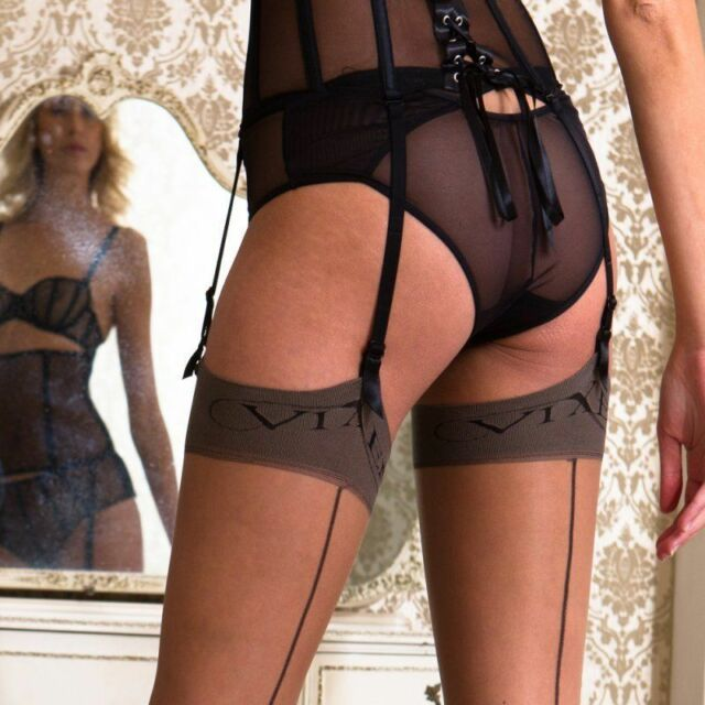 **NEW** XL//L//M//S Contrast Point Heel Raised Seam Vintage Stockings All sizes!