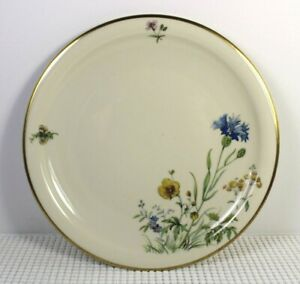 2 Oval Serving Plates Leonora Pattern by Franconia-Krautheim Selb Bavaria Germany Fine China Floral Blue Green Red Gold 11 34 and 15