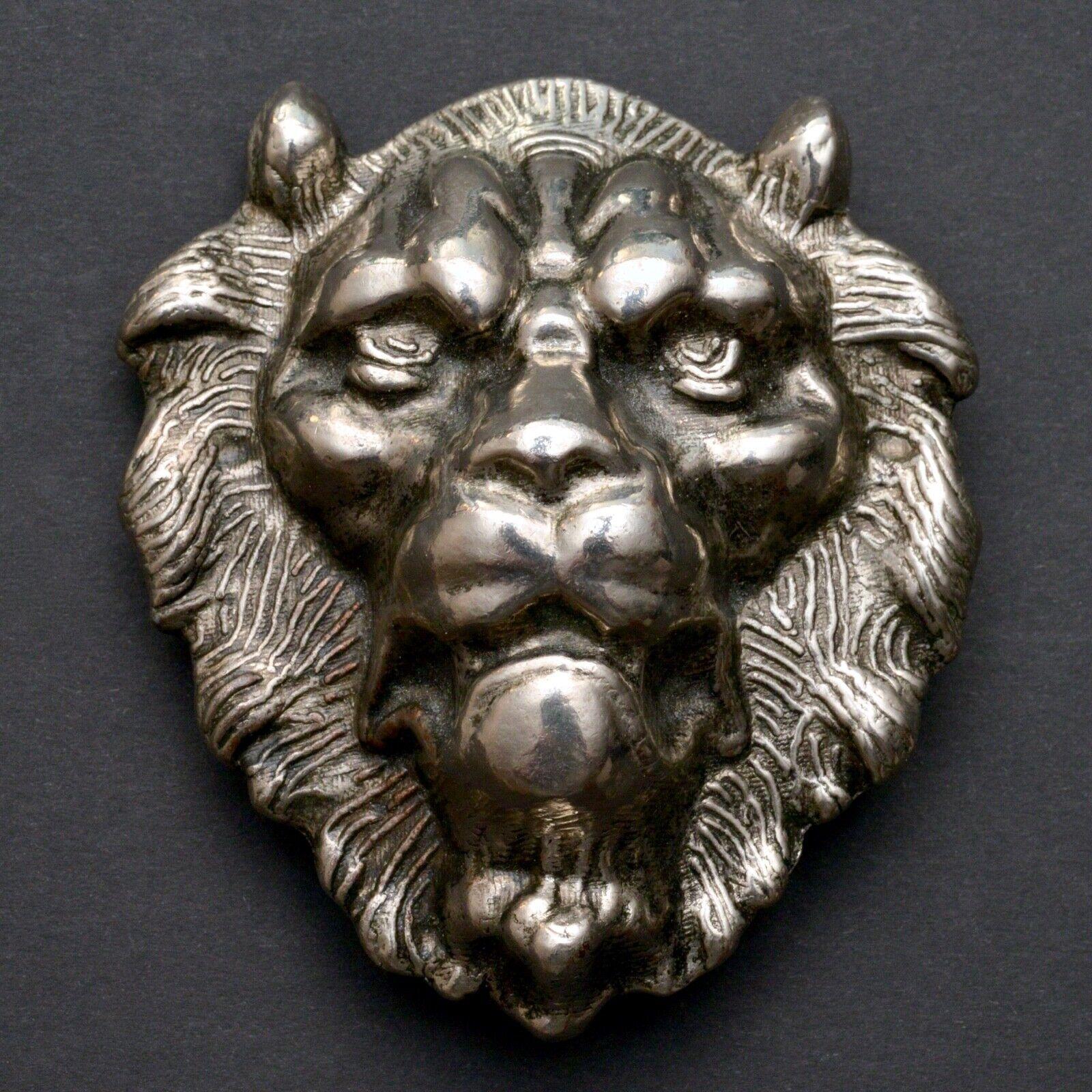 Schwere Metall Gürtelschnalle Löwenkopf LÖWE für 5 cm breite Gürtel