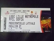 Tickets- 2010 UEFA Europa League LOSE LILLE METROPOLE v PFCL SOFIA, 21 October