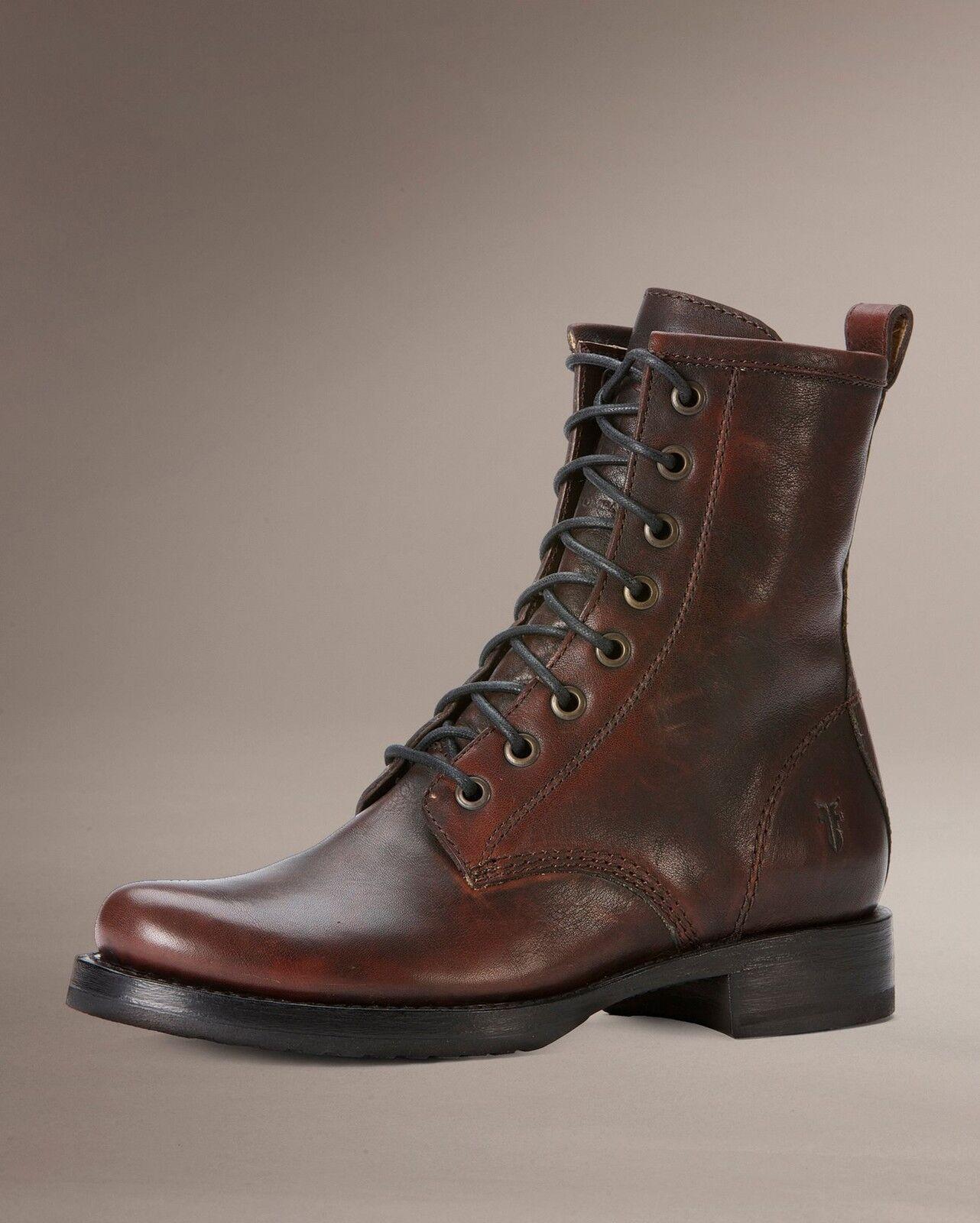 Para Mujer Frye botas Veronica combatir marrón oscuro oscuro oscuro caso omiso de cuero 76270 Dbn  precios al por mayor