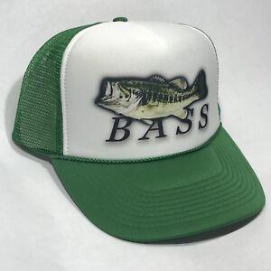 d4f5d78d195ae0 Bass Fishing Lucky Fisherman's Vintage 80's Trucker Hat Snapback ...