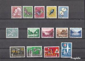 Schweiz-gestempelt-1956-kompletter-Jahrgang-in-sauberer-Erhaltung