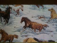 Waitress/server Apron horses Running In Snow X-lg