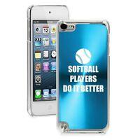 Light Blue Apple Ipod Touch 5th 6th Gen Hard Case Softball Players Do It Better