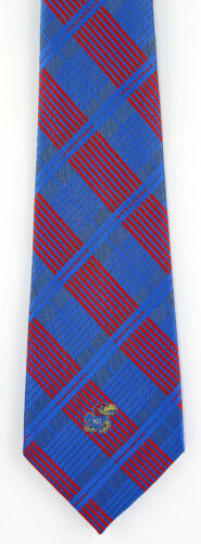 Kansas Jayhawks Men/'s Necktie College University Logo Plaid Gift Blue Neck Tie