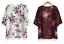Women-S-XL-Kimono-Cardigan-Open-tunic-Outerwear-Short-Sleeve-Floral-Print-Tassel thumbnail 1