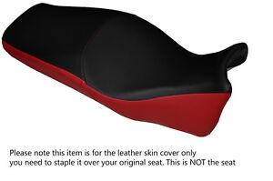 DARK RED & BLACK CUSTOM FITS HONDA VFR CROSSTOURER 1200 12-15 LEATHER SEAT COVER