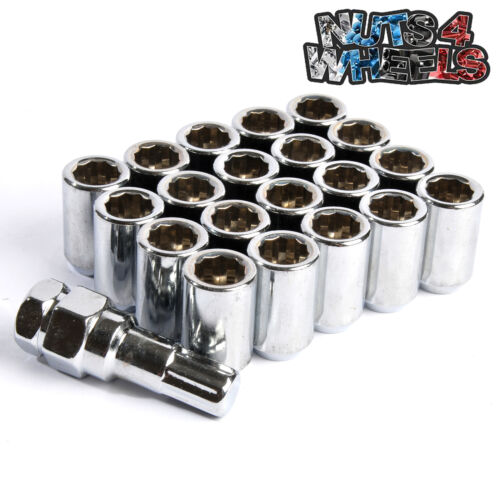 20 x Chrome Tuner Wheel Nuts M12x1.5 Fits Lexus GS 460 GS450 IS200 IS220