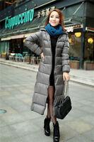 Ladies Womens Winter Light Weight Duck Down Puffer Jacket Outdoor Warm Long Coat