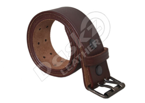 Brown 30/'/' to 64/'/' 100/% GENUINE Black MEN/'S LEATHER BELT Double Hole