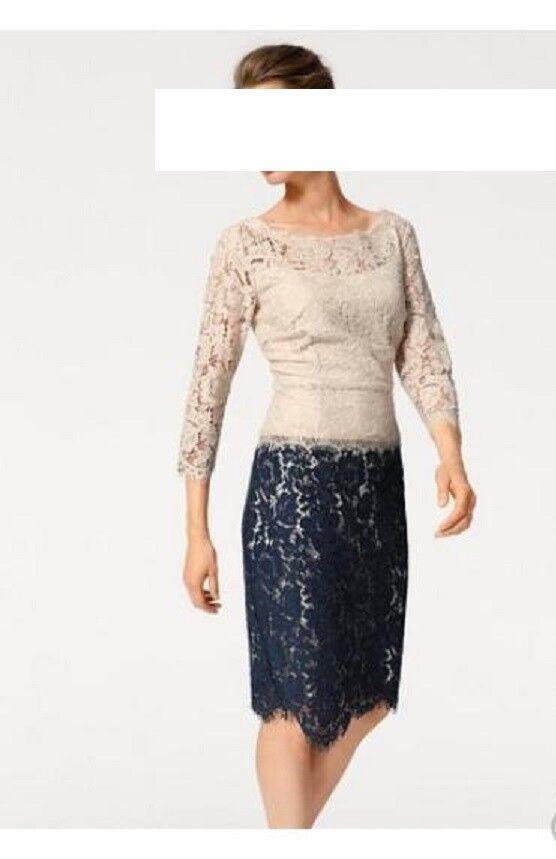 3c1aadf8075f98 Spitzen Kleid von Ashley Brooke 42 NEU Designer Größe npzieb3699-neue  Kleidung