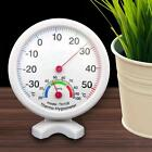 Round Large Dial Mini Indoor Wall Thermometer Temperature Wet Hygrometer W@
