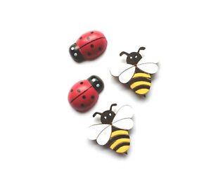 Little Ladybird Animal Keyring or Fridge Magnet Novelty Gifts