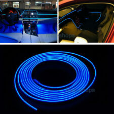 2M 12V EL Wire Skyblue Cold light Neon Lamp Atmosphere Unique Decor For Ford #