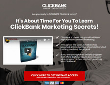 Clickbank Marketing Secrets Website For Sale With Video Upsell Website