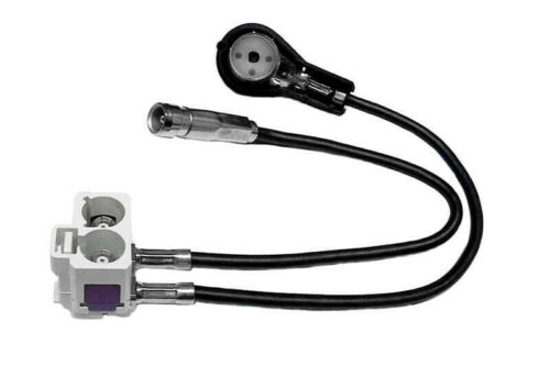 Für Audi Navigation RNS-D auf RNS-E Original Kufatec Antennenadapter Diversity