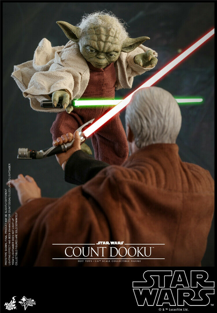 HotToys 1 6 Scale MMS495 Attack of the Clones Yoda Action Figure