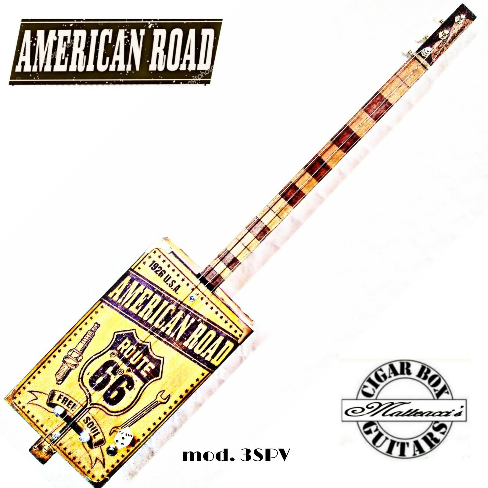 Cigar Box Guitar American Road 3-TPV