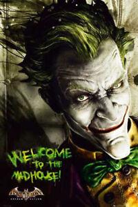 batman arkam asylum joker film movie kino poster. Black Bedroom Furniture Sets. Home Design Ideas