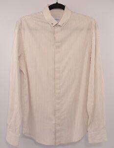 e4242d9e ARMANI COLLEZIONI Women's Stretch Shirt, Beige/Striped, size SMALL ...