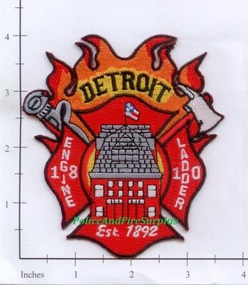 Michigan Detroit MI Fire Dept Patch v1