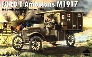 FORD-T-MILITARY-AMBULANCE-AMERICAN-EXPEDITIONARY-FORCE-IN-EUROPE-1-72-RPM-RARE