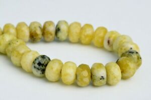 8x5MM-Natural-Yellow-Turquoise-Grade-AAA-Faceted-Rondelle-Loose-Beads-7-5-034