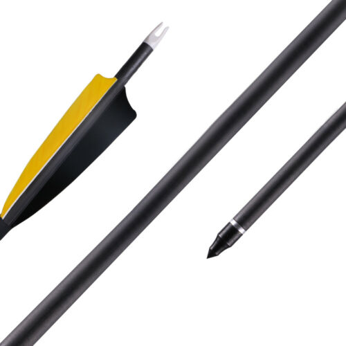 32.5/'/' Pure Carbon Arrow with Turkey Feather for Target Practice Archery Hunting