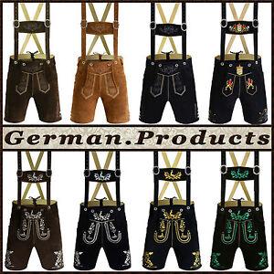 Authentic-German-Bavarian-Oktoberfest-Trachten-Men-Wear-Short-Lederhosen-Outfit