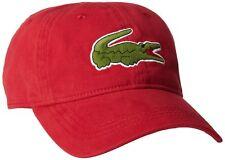 d8ef35598 Lacoste Men's Cotton Hat Cap Large Crocodile Color Red Model Rk2642 476