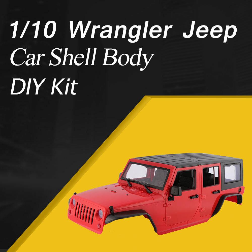 Shell duro plástico auto cuerpo Hágalo usted mismo para 313mm 1 10 Wrangler Jeep Axial SCX10 RC Coche