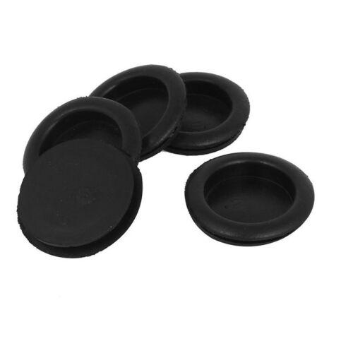 5X 5pcs black rubber closed blind bleaching lead rubber grommets 40mm G9X6