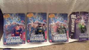 Justice League Unlimited Personnages Superman, Batman, Rare Green Arrow & Lex Luthor