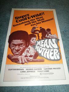 MEAN-MOTHER-1974-CLIFTON-BROWN-ORIGINAL-PRESSBOOK-MINT